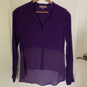 Tops - Purple Sheer Blouse